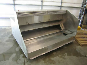69 Stainless Steel Restaurant Exhaust Hood Ansul Ready Includes Filters