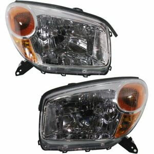 Halogen Headlight Set For 2004 2005 Toyota Rav4 Sport Utility Left