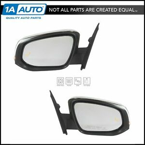 Exterior Power Heated Blind Spot Turn Signal Chrome Mirror Pair For Tacoma Truck