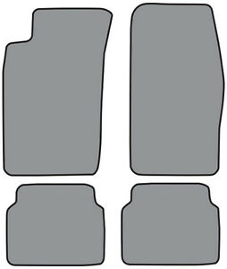 4pc Cutpile Carpet Floor Mat For 1990 1992 Toyota Supra