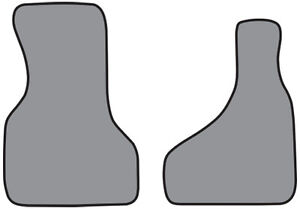 1985 2000 Chevrolet Astro Cutpile Carpet Logo Floor Mat Front Row 2pc