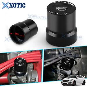 Red Alloy Wheel Center Rim Hub Caps Logo Decor Ring Cover For Vw Golf Passat Cc