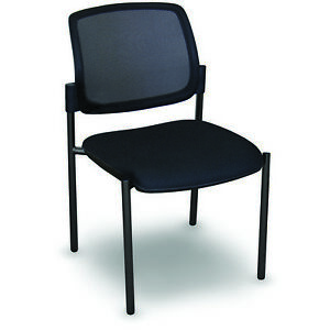 Marvel Mesh Stackable Visitor Chair 24 25 wx24 75 dx32 25 h Black