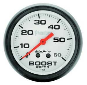 Auto Meter Phantom 52mm 0 60 Psi Mechanical Boost Gauge