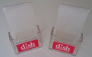2 Pack Brochure Holder Literature Display Clear Acrylic Dish Network