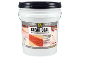New 5 Gal Gloss Clear Seal Concrete Protective Sealer Resistant To Moisture