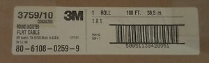 3m 3759 10 Wire Ribbon Round 1 27mm Stranded Cu 10x28awg Black 1 Roll