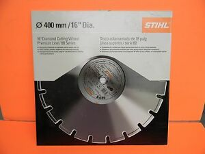 Stihl Cutoff 16 Diamond Cutting Wheel Premium Line 80 Series 0835 090 2021
