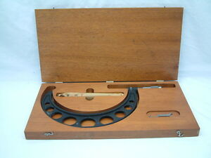 Brown Sharpe 6 7 Outside Micrometer Wooden Display Case Standard