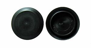 2 Flush Mount Black Plastic Body And Sheet Metal Hole Plug Qty 1 2 0 Inch