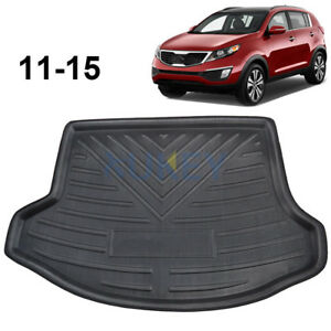 Fit For Kia Sportage 11 15 Rear Trunk Boot Liner Cargo Mat Tray Carpet Protector