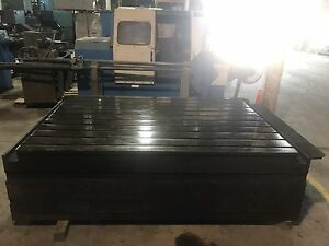 T slotted Floor Plate 62 X 90 X 28 tall Boring Mill Machine Cnc Lathe