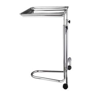 Mobile Mayo Stainless Steel Tray Stand Medical Doctor Tattoo Spa Salon Equipment