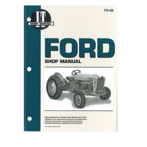 Fo20 I t Shop Manual For Ford New Holland 1801 2000 4000 500