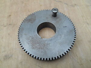 Original South Bend 9 10k Metal Lathe Headstock Spindle Bull Gear As15nk1