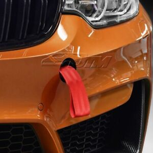 High Strength Red Racing Tow Towing Strap Hook Front Rear Bumper Car Universal 5