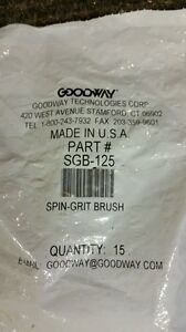 New lot Of 15 Goodway tube Cleaning Brush Spin Grit Sgb 125 Free Shipping