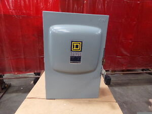 Square D 200 Amp Non fusible Safety Switch Disconnect Cat Du324 New Old Stock