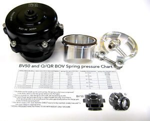 Tial Q Blow Off Valve Bov 50mm 2 Psi With Aluminum Flange For Supercharger Black
