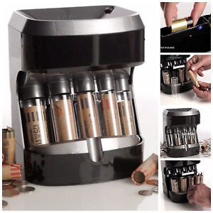 Coin Counter Sorter Automatic Machine Change Money Roller Battery Operated New
