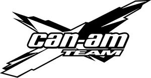1 Jumbo 4 Brp Can am Commander Outlander Team X Sticker Decal Emblem 3