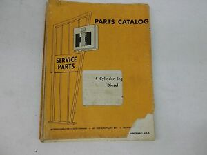 International Harvester 4 Cylinder Diesel Engine Parts Catalog For Crawlers