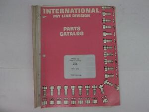 International Harvester Model 515 Pay Loader Parts Catalog