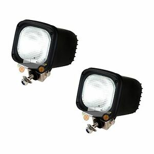 2pcs 55w 24v Flood Xenon Hid Work Light For Atv Suv Truck Tractor Boat Offroad
