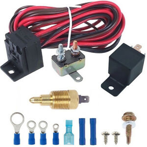 160 F Degree Electric Fan Grounding Thermostat Relay Switch Kit 3 8 Npt Probe