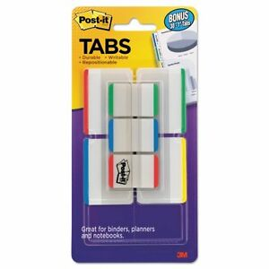 Post it Tabs Tabs Value Pack 1 And 2 Assorted Primary W
