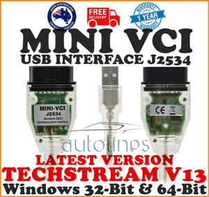 Suitable For Toyota Tis Mini Vci Techstream V13 Usb Cable 16 Pin Obd2 Diagnostic