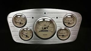 1933 1934 Ford Car 5 Gauge Dash Cluster Tan