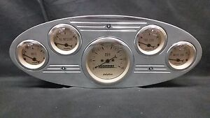 1934 Ford Truck Gauge Cluster Tan
