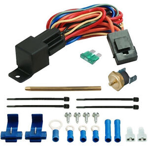 180 F Electric Fan Temperature Thermostat Switch Kit Push In Radiator Fin Probe
