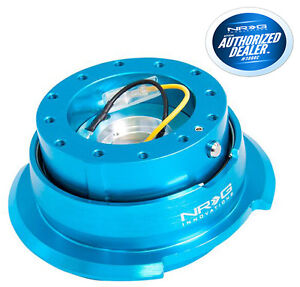 Nrg Steering Wheel Quick Release Gen 2 8 New Blue Diamond Cut Srk 280nb
