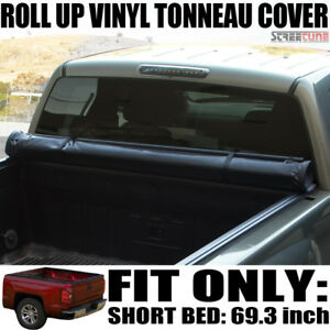 Low Profile Roll Up Tonneau Cover 14 18 Silverado 1500 Crew 5 8 Ft 68 Short Bed