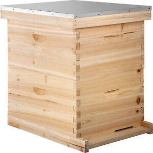 Complete Bee Hive 20 Frame Double Level Beehive Kit Start Beekeeping Equipment
