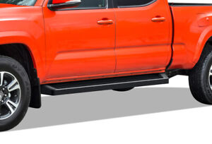 Iboard Black Running Boards Style Fit 05 20 Toyota Tacoma Double Cab Crew Cab
