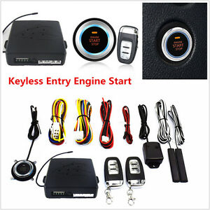 10pcs Car Keyless Entry Engine Start Push Button Remote Starter Alarm System Kit