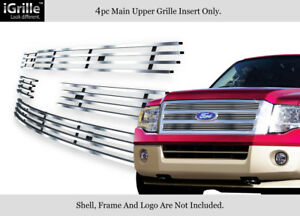 Fits 2007 2014 Ford Expedition Stainless Steel Billet Grille Grill Insert