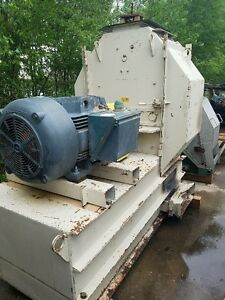 Bliss E 4424 Hammermill Hammer Mill Grinder W Inlet Hopper And 200 Hp Motor