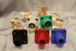 Camlok Panel Mount Set Of 2 Male Green white 3 Female Black red blue Cls40frb