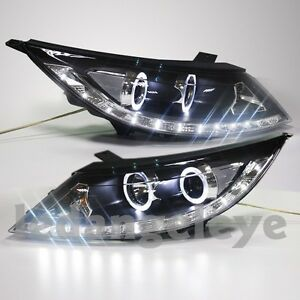 2009 2013 Year Led Angel Eyes Lights For Kia Sportage R Led Front Lamps Ld