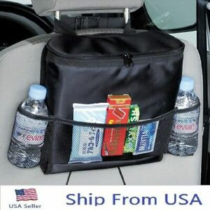 Car Seat Back Organizer Storage Bagtravel Picnic Food Insulated Carry Bag