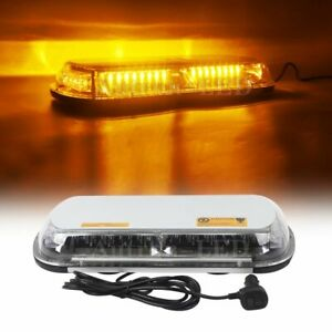 44w Led 17 Amber Emergency Beacon Wrecker Flash Roof Warning Strobe Light Bar