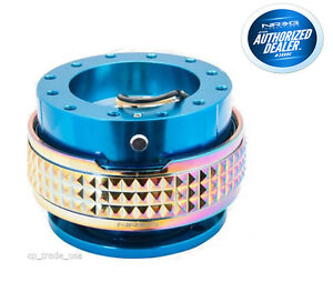 Nrg Steering Wheel Quick Release Gen 2 1 Blue Neochrome Pyramid Srk 210bl Mc