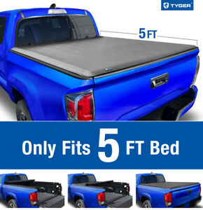 For 2016 2021 Toyota Tacoma excl trail 5ft Bed Tyger T1 Roll Up Tonneau Cover