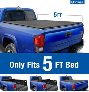 For 2016 2020 Toyota Tacoma 5ft Bed Tyger T1 Roll Up Tonneau Cover