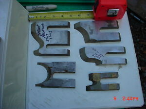 Lot 5 Moulder High Speed Knives Blades stock 5