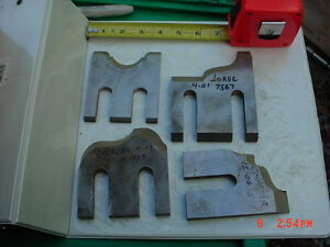 Lot 4 Moulder High Speed Knives Blades stock 9